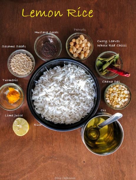 Lemon Rice Ingredients