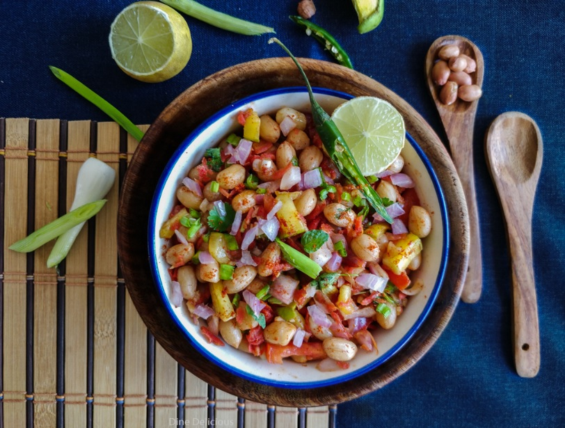 Chatpata Peanut Chaat, Spicy tangy and delicious Peanut Chaat Recipe