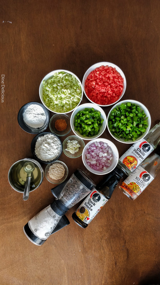 Dry Manchurian Ingredients