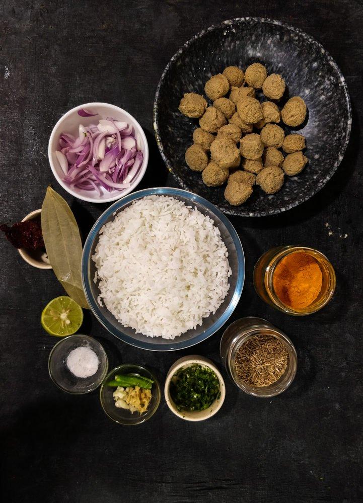 Soya Pulao Ingredients
