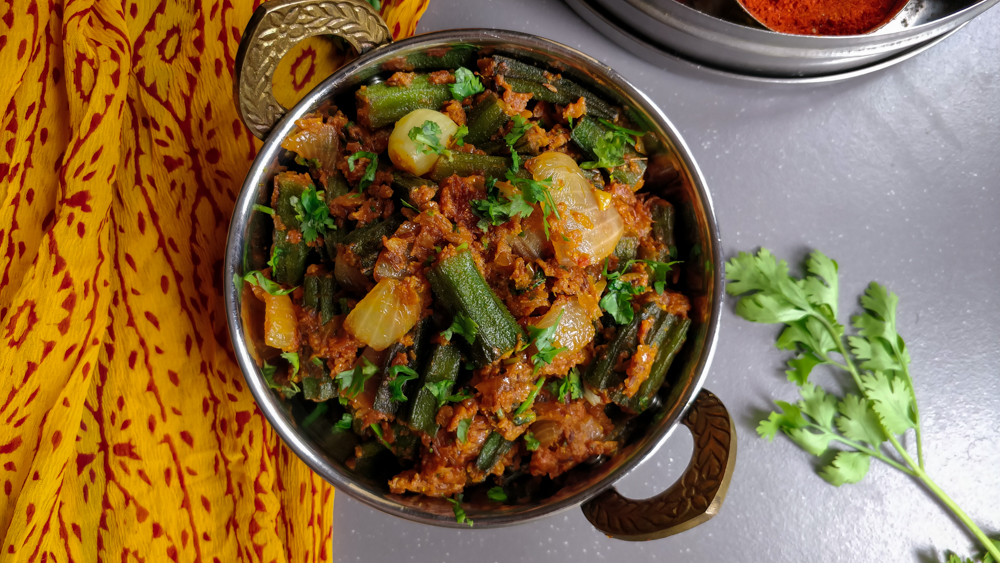 Bhindi Do Pyaza (Restaurant Style Bhindi Masala Recipe)