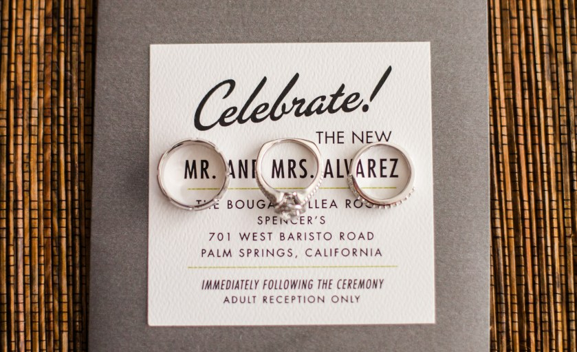 Los Angeles Wedding Photography Palm Springs Invitation Enement Ring 20