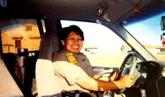 Corrina Thinn, former Navajo Nation Police Officer, in uniform and on-duty. (Photo provided by family.).
