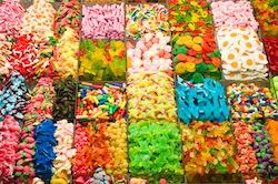 Boutique confiserie, bonbons et chocolats