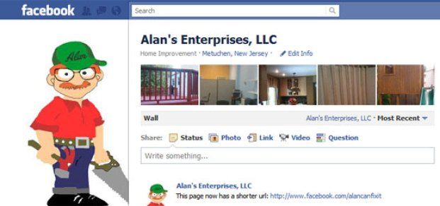 Su pagina comercial en facebook