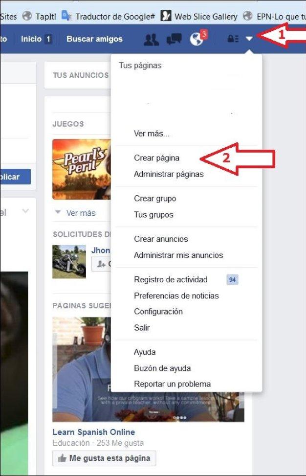 pagina comercial en facebook