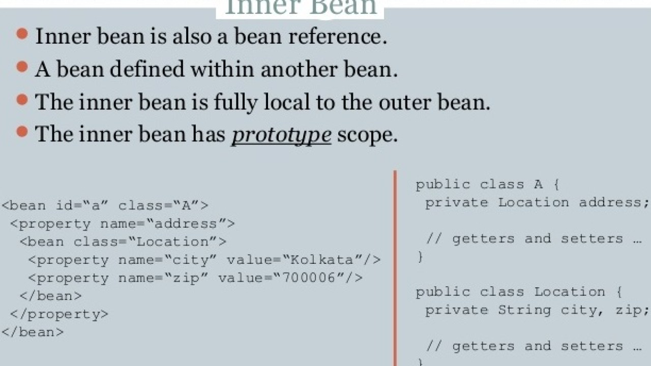 Injecting Inner Beans in Spring with Example - Dinesh on Java