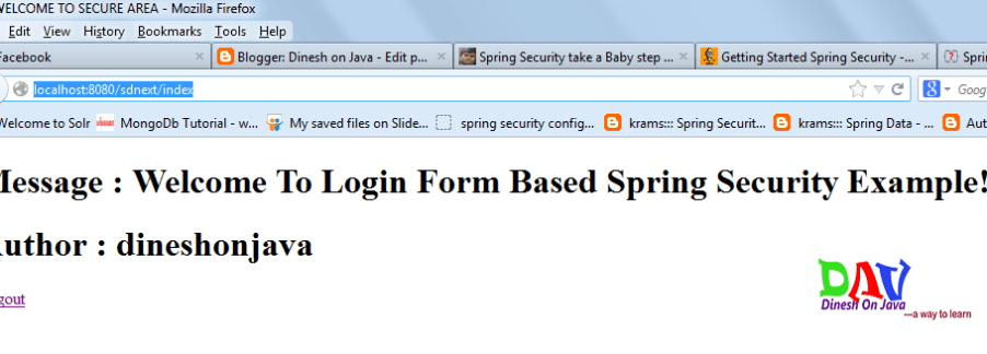 Spring Mvc Login Logout With Session Example