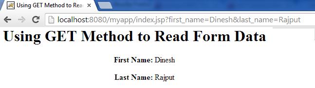 JSP Form Processing - Dinesh on Java
