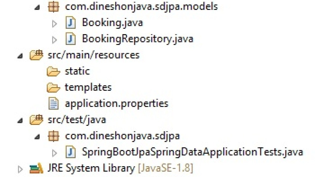 Spring Data JPA using Spring Boot Application - Dinesh on Java