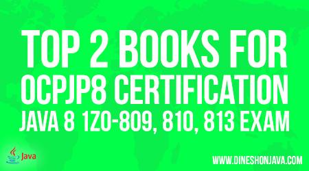 Top 2 Books OCPJP 8 Java Certification