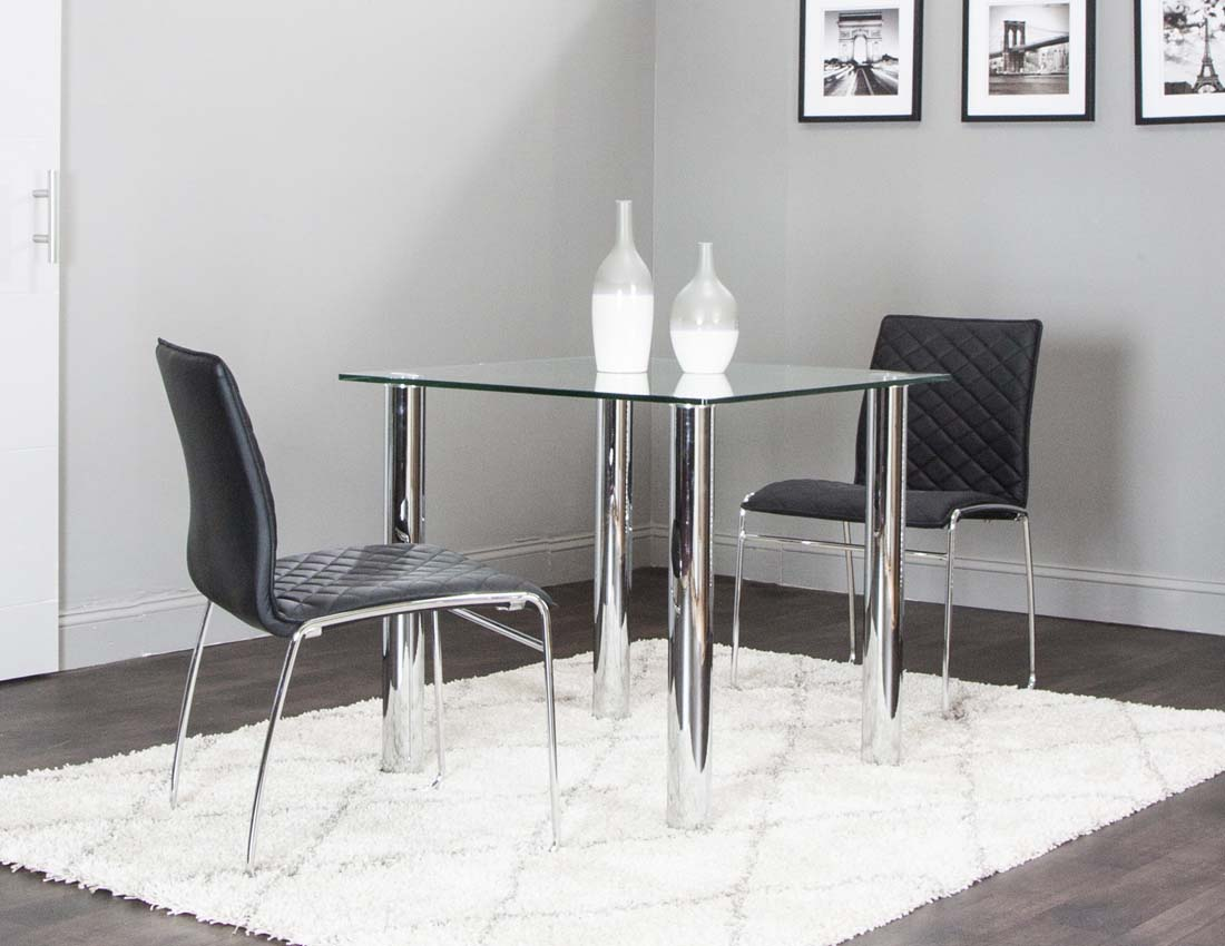 Napoli Square Table Regal Chair 3pc Set  Dinettes Unlimited