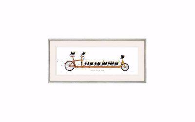 Michael Ferner Schilderij 'Beautiful Bicycle Birds'