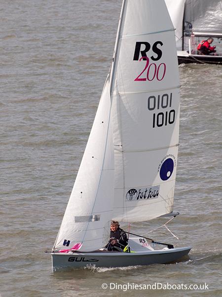 RS 200 class sailing dinghy