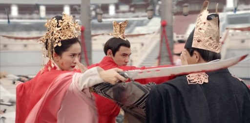 Ethan Ruan and Yang Mi in Legend of Fuyao