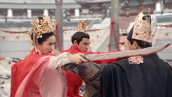 Ethan Ruan and Yang Mi in Legend of Fuyao