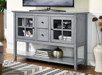 "WE Furniture 52"" Wood Console Table Buffet TV Stand ..."