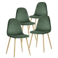 GreenForest Dining Chairs,Elegant Velvet Back and Cushion ...
