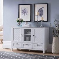 Kings Brand Furniture  Evans Sideboard Buffet Console ...