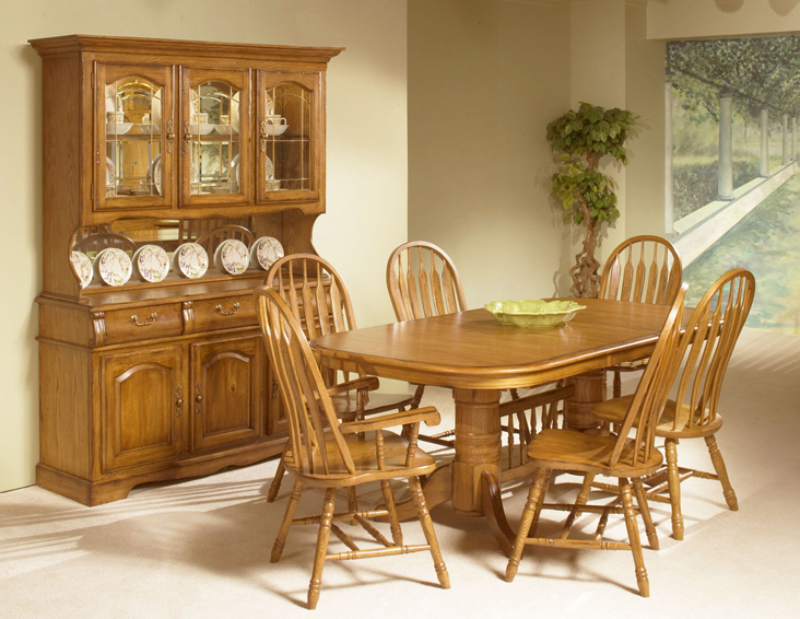 solid oak dining table and chairs wedding chair covers online room set with china cabinet