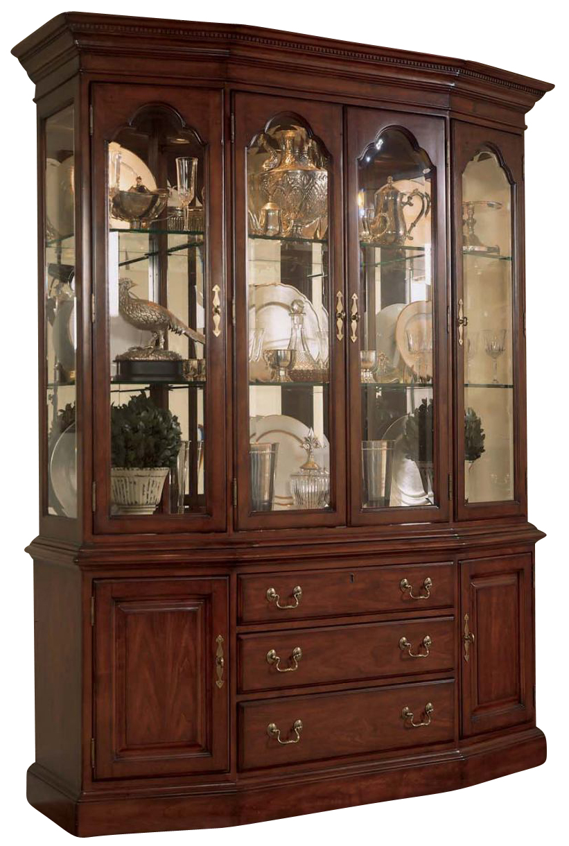 American Drew Cherry Grove Canted China Cabinet By Dining