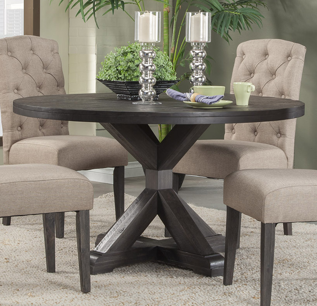 Alpine Furniture Newberry Round Dining Table in Salvaged
