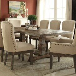 Broyhill Landon Sofa Wayfair Furniture Sectional Acme Trestle Dining Table In Salvage Brown 60737a