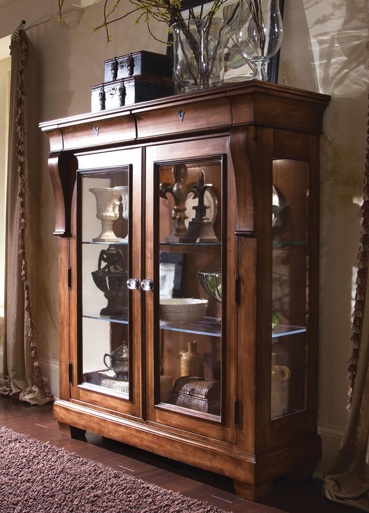 paula deen living room furniture collection large layout with fireplace kincaid tuscano solid wood display cabinet 96-070 by ...