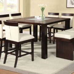 Lexington Sofa Table Best Way To Clean Black Leather Acme Keelin 7pc Counter Height Dining Room Set With Insert ...