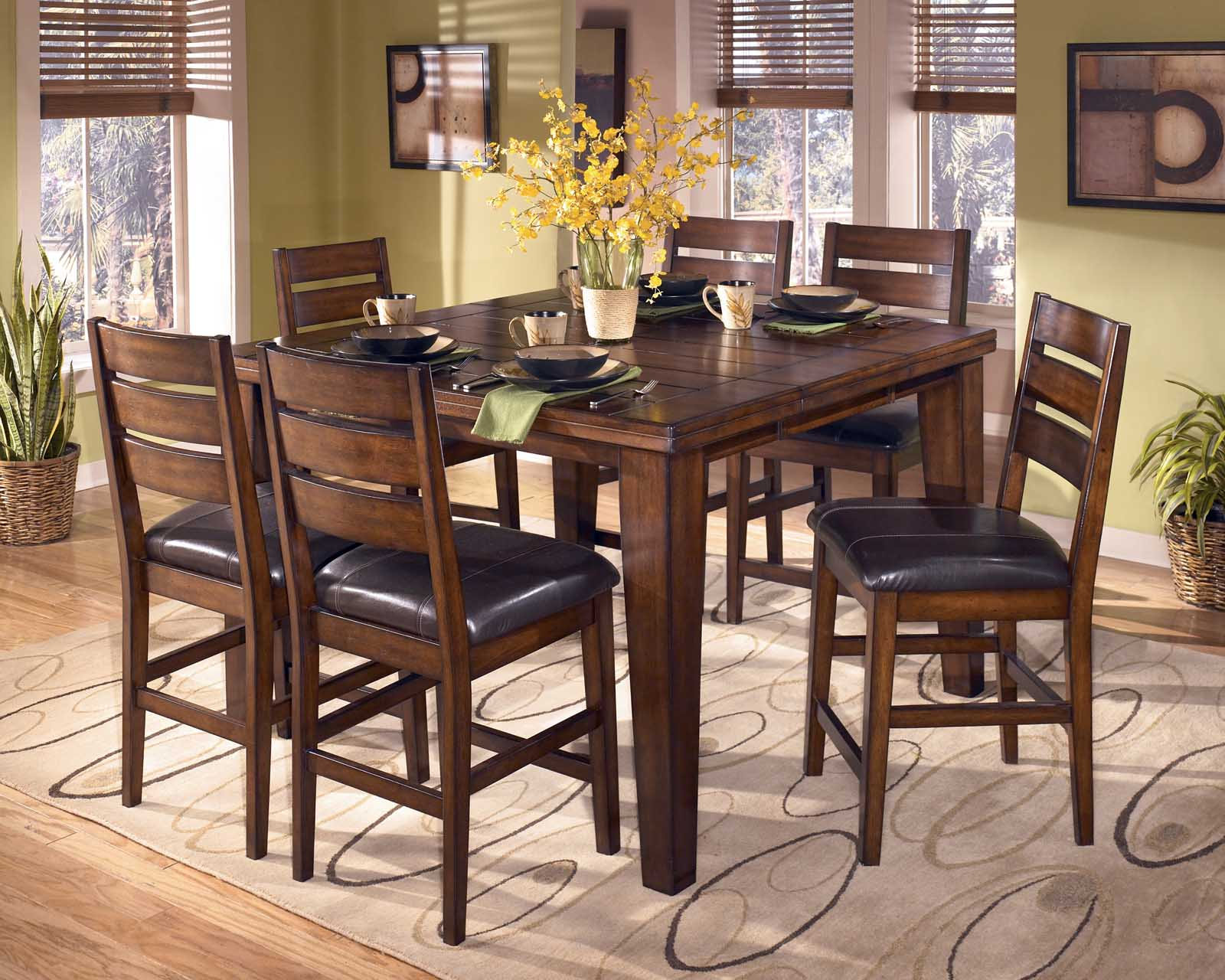 Larchmont 7 Piece Butterfly Leaf Counter Height Dining Set