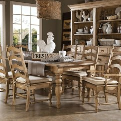 Farmhouse Dining Chairs White Wooden For Weddings Kincaid Homecoming Solid Wood Leg Table