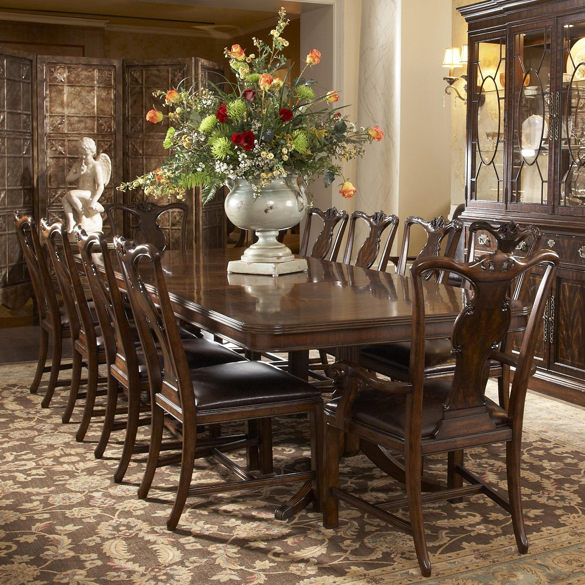 Fine Furniture Hyde Park Double Pedestal Dining Table in
