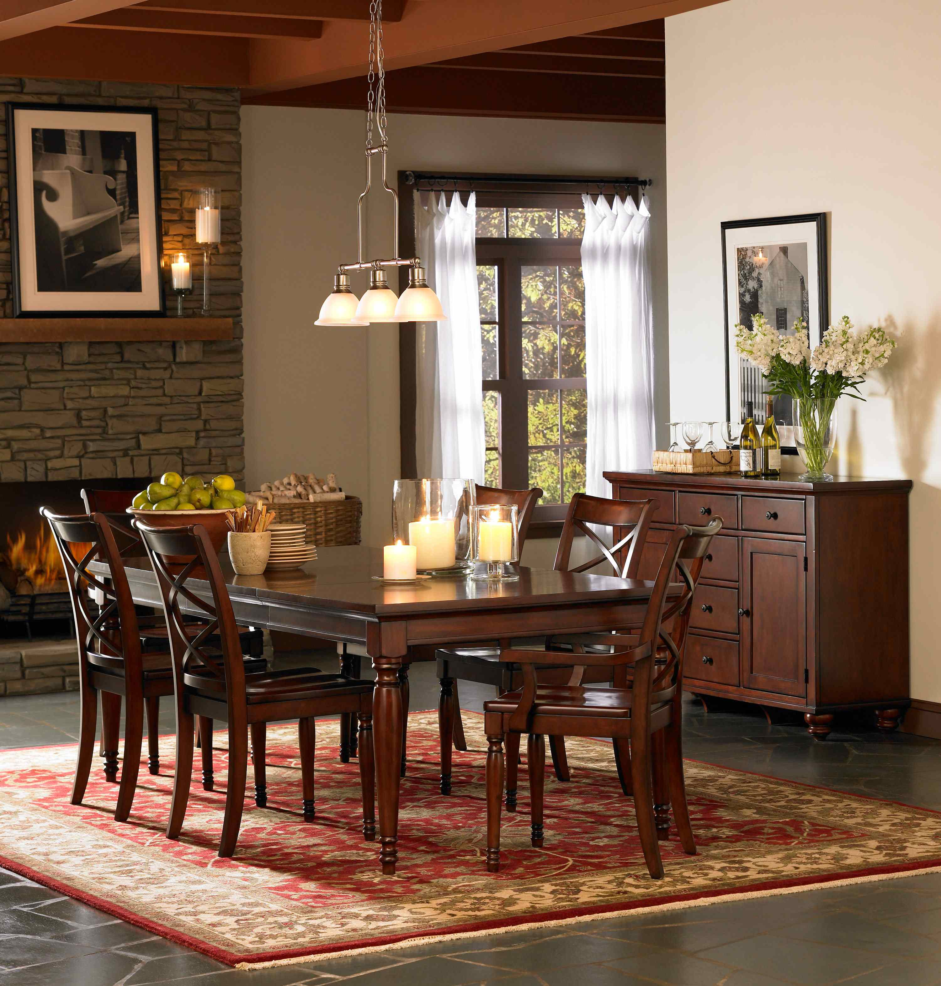 Aspenhome Cambridge 7pc Formal Dining Room Set in Brown