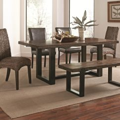 Paula Deen Home Living Room Furniture Decor Black Couch Coaster Westbrook 5-piece Dining Set In Two Tone By ...