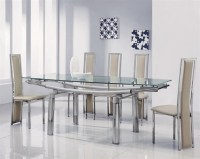 delta mega extending glass dining table, glass dining ...
