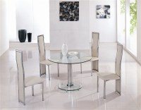 mini round vo1 ice glass dining table, glass dining table ...
