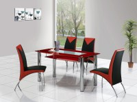 rimini large glass dining table, dining table and chairs