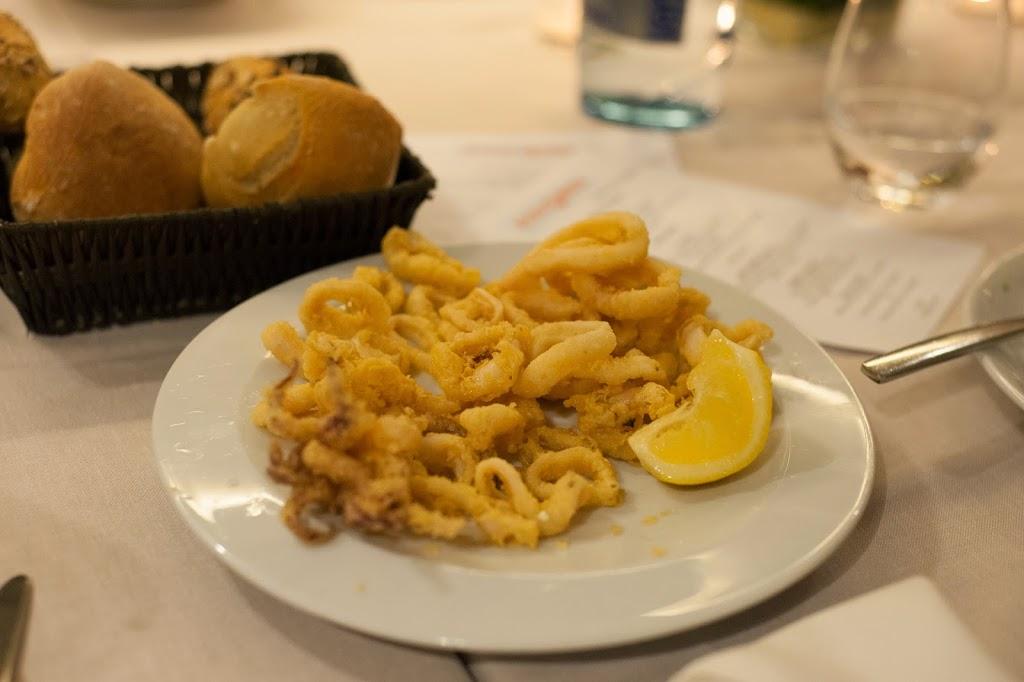 Calamari at Ca la Nuri restaurant Barcelona