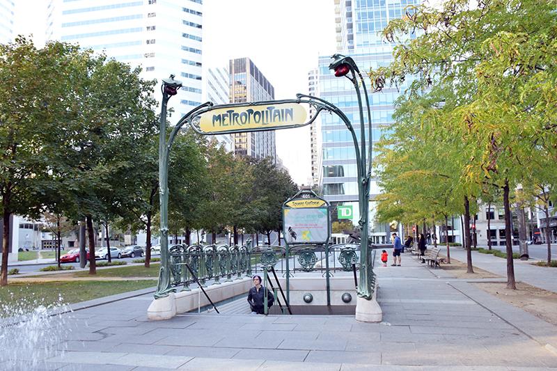 Three Days in Montreal Metro Stop