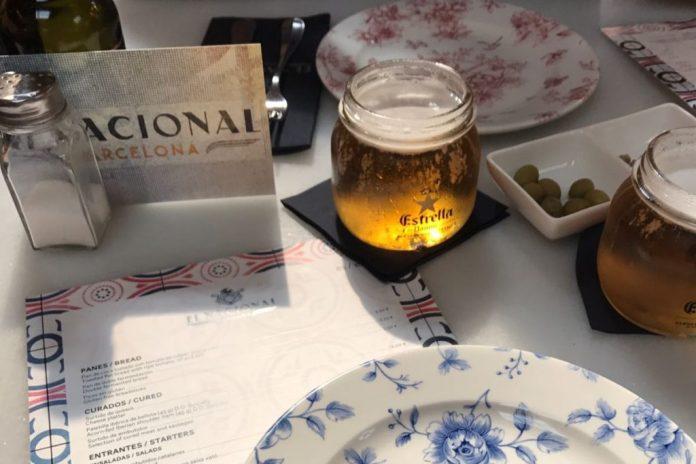 Beer at El Nacional Barcelona