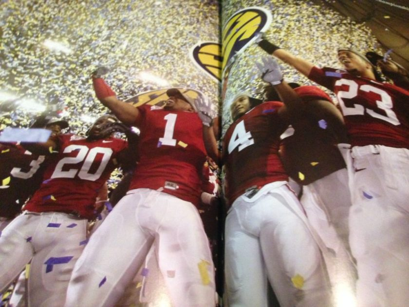Celebrating SEC Championship Photo by Kent Gidley