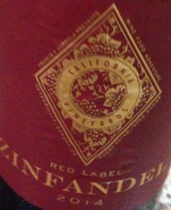 Coppola's Red Label Zinfadel