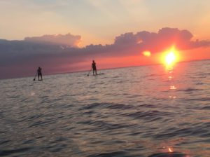 Paddling on Mobile Bay Photo by Robin Claudio