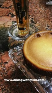 St Germain Cheesecake on Vintage Square Cake Plate