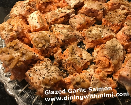 lazed Garlic Salmon www.diningwithmimi.com