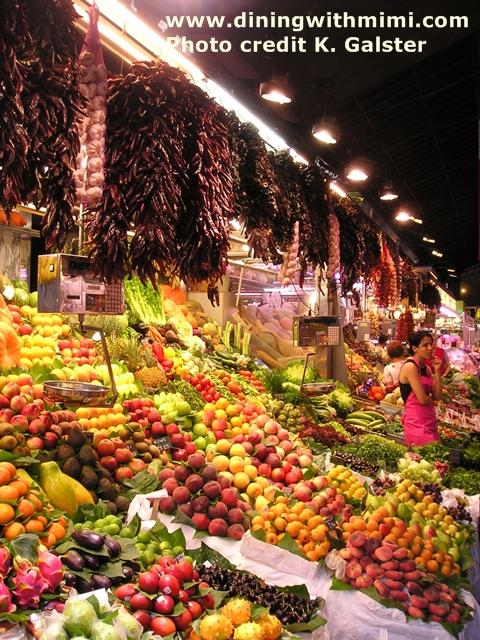 Fruit Vendor Barcelona Market