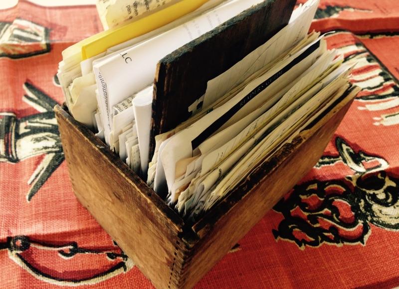 Mimi's Antique Wooden Recipe Box