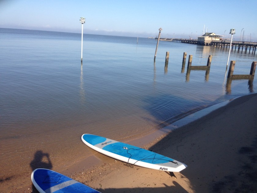 Tired of News today so I am Paddling in the bay www.diningwithmimi.com