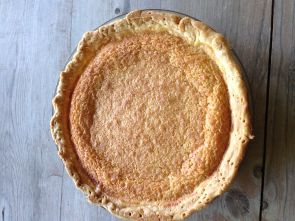 An old fashioned Coconut Chess Pie