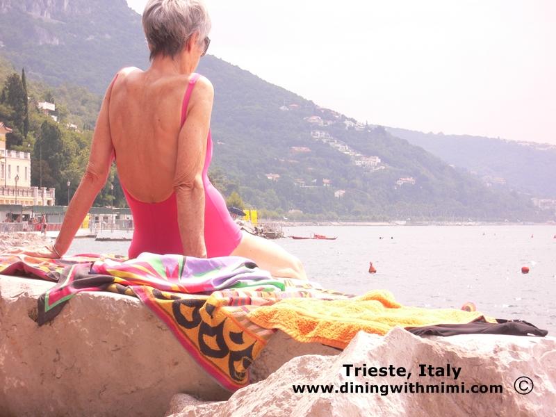 Coastal view of Trieste, Italy Make Ahead Beach Menu www.diningwithmimi.com